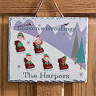 Personalized Sledding Family Winter Wall Decorations