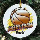 Personalized Ceramic Basketball Ornament