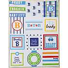 Personalized Boy's Patchwork Quilt Blanket