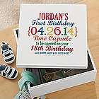 Personalized Precious Memories First Birthday Time Capsule