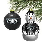 Philadelphia Eagles Mini Blown Glass Ornament Set