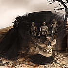 Skeleton Head with Riding Hat