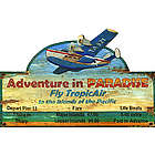 Paradise Float Plane Sign
