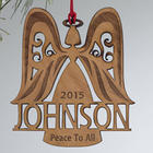 Personalized Family Angel Christmas Ornament