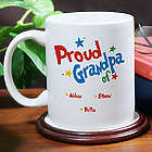 Proud Dad or Grandpa Personalized Coffee Mug
