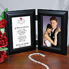 Marriage Blessing Wedding Bi-Fold Personalized Picture Frame