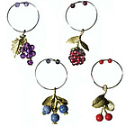 Table Art Fruit Wine Charms