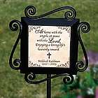 Personalized At Home with the Angels Garden Remembrance Stake