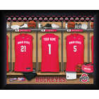 Personalized Ohio State Buckeyes Basketball Locker Room Print