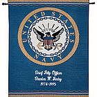 Personalized Navy Tapestry Wall Hanging