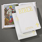 Personalized Catholic Children's Bible in White