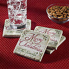 Personalized Festive Holiday Coasters