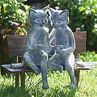 Reading Cats Garden Art