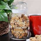 Personalized Merry Christmas Cookie Jar