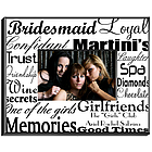 Personalized Bridesmaid Frame in Black on White