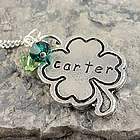 Irish Shamrock Personalized Stamped Necklace or Keychain