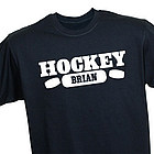 Hockey Fan Personalized Sports T-Shirt