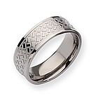 Mens Titanium Ring with a Weave Design