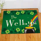 Irish Rainbow Welcome Personalized Doormat