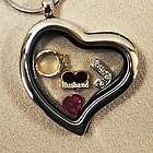 Loss of Husband Heart Locket with Charms