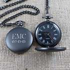 Gunmetal Monogrammed Pocket Watch