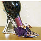 Purpleand Lace Metal Shoe Wine Bottle Holder