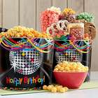 Birthday Glitz Popcorn Tins and Snack Gift Bag