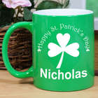 Happy St. Patrick's Day Personalized Two-Tone Mug