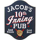 Personalized 10th Inning Baseball Pub Sign