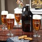 Personalized Pilsner Glasses and Growler