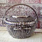 Personalized Silver Nantucket Basket Keepsake Jewelry Box