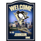 Pittsburgh Penguins Personalized Welcome Sign