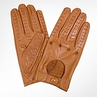 Men's Tan Italian Leather Gloves