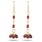 5.15 Ct Garnet Briolette Earrings in 18K Yellow Gold