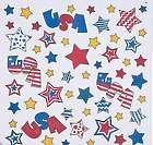 Color Your Own Patriotic Bandanas