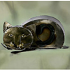 Playful Kitten Tin Sculpture