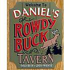 Rowdy Buck Personalized Tavern Sign