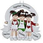 Three Friends / Sisters Personalized Christmas Ornament
