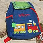 Personalized Train Backpack
