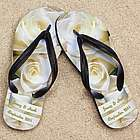 Personalized White Rose Wedding Beacher Sandal