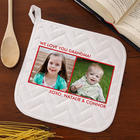 Two Photo Picture Perfect Personalized Potholder