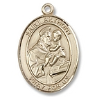 Gold Filled St. Anthony of Padua Pendant with Chain