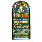 Golf Clubhouse Personalized Sign