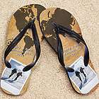 Personalized World Traveler Beacher Photo Sandal