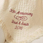 Personalized Happy Anniversary Afghan