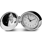 Polished Silver Oval Alarm Clock