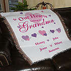 Personalized Our Hearts Belong To Tapestry Throw Blanket