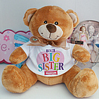 Personalized Big Sister Heart Plush Teddy Bear