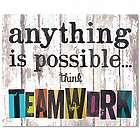 Think Teamwork Inspirational Art Print