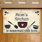 Personalized Seasoned with Love Country Kitchen Floor Mat
